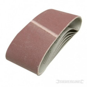 SILVERLINE Lot de 5 bandes abrasives 100 x 610 mm