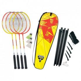 TALBOT TORRO Set de Badminton 4-Fighter - 4 raquettes - 3 volants