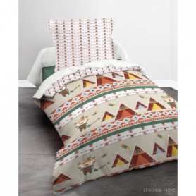 TODAY Parure de couette Happy Little Tipi - Coton - 140 x 200 cm