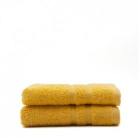 TODAY Lot de 2 Serviettes de toilette Safran - 100% Coton - 50 x 100 cm