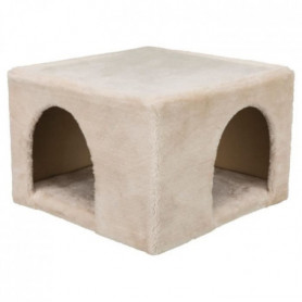 Abri douillet peluche - 36 × 25 × 36 cm - Beige - Pour lapins