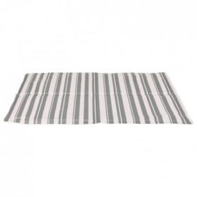 TRIXIE Matelas rafraîchissant - M: 50 × 40 cm - Blanc et gris