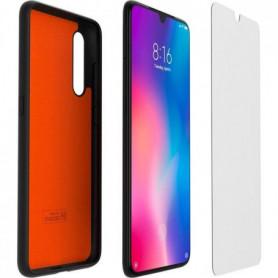 XIAOMI Pack coque TPU et verre trempé pour Xiaomi MI 9 Noir