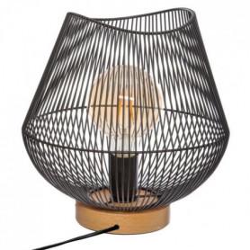 Lampe a poser filaire en métal - H 28 cm - Noir