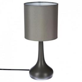 Lampe a poser touch en métal - H 35 cm - Gris
