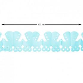 ATOSA Guirlande en papier - Bleu - 300 cm
