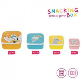 BADABULLE Snacking Box - 4 Boites à Goûter Gigognes