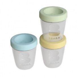 BEABA Set repas 3 portions en silicone - Jungle