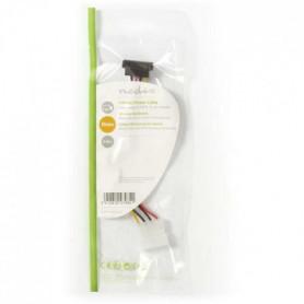 NEDIS Internal Power Cable - Molex Male - SATA 7-pin