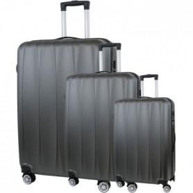 CITY BAG 03 Set de 3 Valises Trolley Rigide ABS - Gris