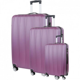 CITY BAG 03 Set de 3 Valises Trolley Rigide ABS - Rouge