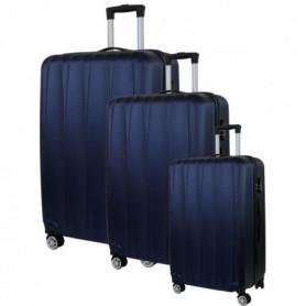 CITY BAG 03 Set de 3 Valises Trolley Rigide ABS - Bleu