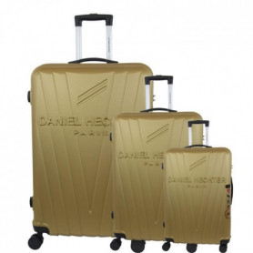 DANIEL HECHTER Set de 3 Valises Trolley Rigide ABS Or
