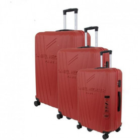 DANIEL HECHTER Set de 3 Valises Trolley Rigide ABS Rouge