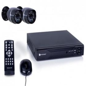 Kit de surveillance filaire avec enregistreur 4 canaux