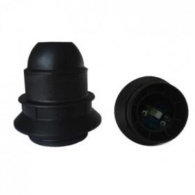 Douille E27 thermoplastique simple bague noir