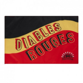 NATIONS OF FOOTBALL Drapeau Supporter Belgique Diables Rouge