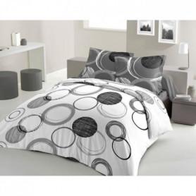 LOVELY HOME Parure de couette Coton AUDACE - 220x240 cm