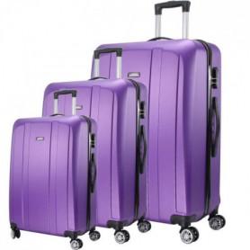 MAJESTICK 09 Set de 3 Valises Trolley Rigide ABS - Violet