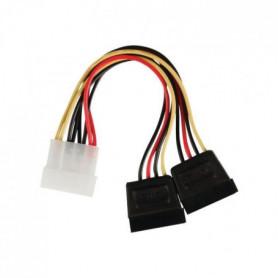NEDIS Internal Power Cable - Molex Male - 2x SATA 15-pin Female