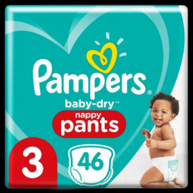 Pampers Baby-Dry Pants Couches-Culottes Taille3, 46Culottes