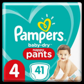 Pampers Baby-Dry Pants Couches-Culottes Taille 4, 41 Culottes