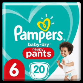 Pampers Baby-Dry Pants Couches-Culottes Taille6, 20Culottes