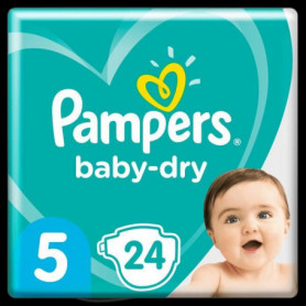 Pampers Baby-Dry Taille5, 24Couches
