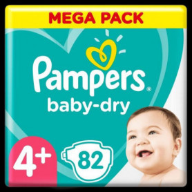 Pampers Baby-Dry Taille4+, 82Couches