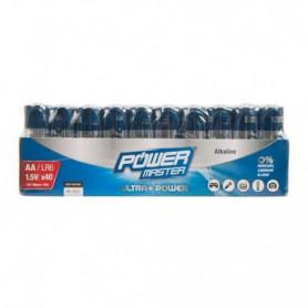 POWERMASTER Lot de 40 Piles alcalines Super LR6 type AA