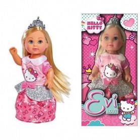 HELLO KITTY - EVI LOVE Poupée Princesse 12 cm avec Tiare
