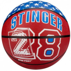 NEW PORT Ballon de basketball - Rouge et Bleu - Taille 7