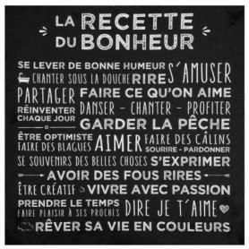 Toile imprimée Recette- 38 x 38 cm - Noir