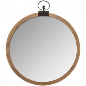 Miroir gousset - L. 74 x l. 7,5 x H. 85,8 cm - Marron