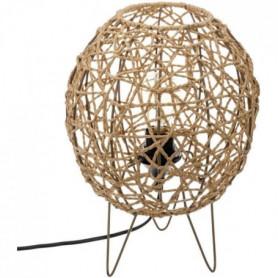 Lampe boule - E27 - 40 W - H. 33,5 cm - Beige