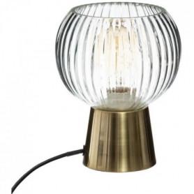 Lampe à poser en verre et métal - E27 - 25 W - H. 19,5 cm