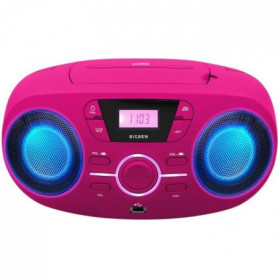 BIGBEN CD61RSUSB Lecteur Radio Cd Portable Usb Rose