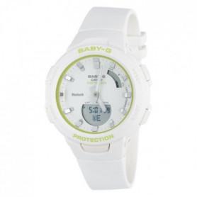CASIO Montre Analogique BABY-G BSA-B100SC-7AER Blanc Vert