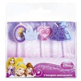 DEVINEAU 5 bougies sur pics Princess