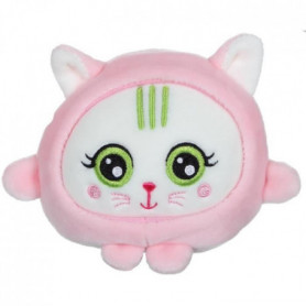 GIPSY - peluche squishimals 10 cm chat rose Rosy