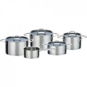 GSW Elegance - Batterie de cuisine 9 pieces en acier inoxydable