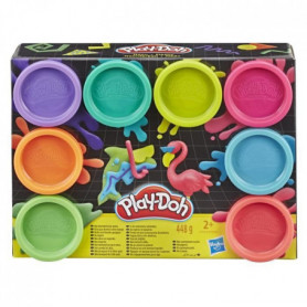 Play-Doh – 8 pots de Pate A Modeler - Couleurs Fluo - 56 g