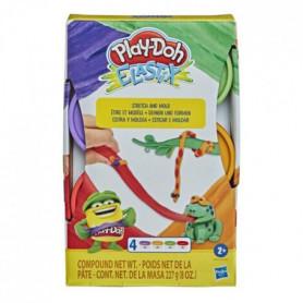 Play-Doh – 4 pots de Pate A Modeler Elastix - 56g chacun