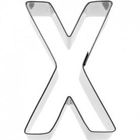 KARIS Emporte-piece Lettre X Birkmann T.1.9 - Inox - 6 cm