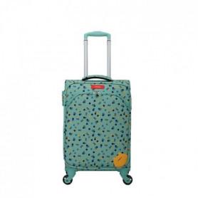 Valise cabine polyester ARUM-E bleu ciel