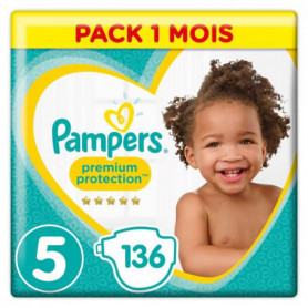 PAMPERS Premium Protection Taille 5 11-23kg - 136