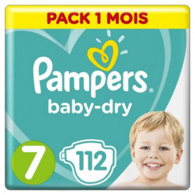 Pampers Baby-Dry Taille 7, 112 Couches