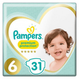 PAMPERS Premium Protection Taille 6 15+ kg - 31 Couches