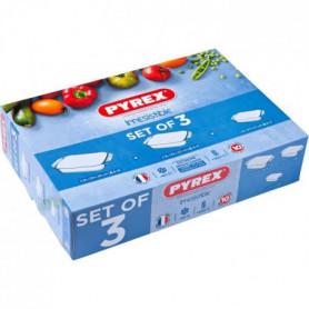 PYREX 3 plats a four rectangulaires 31x20 cm + 35x23 cm + 39x25 cm