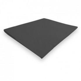 SOLEIL d'OCRE Drap plat Camille - 240 x 300 cm - anthracite